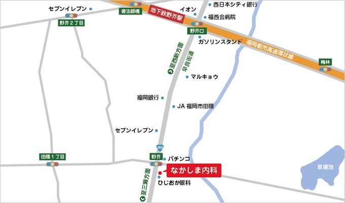 なかしま内科地図